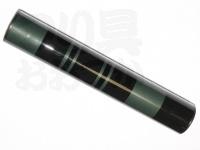かちどき カーボン製浮子筒 - 30cm #黒X緑 30cm