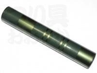かちどき カーボン製浮子筒 - 30cm #緑X金 30cm