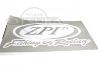 ZPI ステッカー - オリジナルデカール L #ホワイト 横約40cm縦約20cm