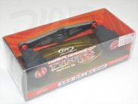 ZPI カーボンハンドル(ベイト) - パワーゲーム タイプS #レッド PG-TS92AD-R 92mm