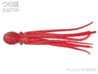ニッコー化成 ニッコーワーム - スーパータコベイト #306 クリアレッドUV 6インチ