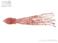 ニッコー化成 ニッコーワーム - スーパータコベイト #465 ケイムラクリアレッド 3.5インチ