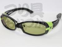 ジール セルフレームタイプ - ヴェロ 2nd フレーム:ブラック/グリーン レンズカラー:イーズグリーン