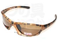 ツーシーム 偏光サングラス - TSC-F50 #スモーク ゴールドゼブラ