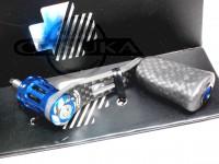 スタジオコンポジット RC-SS カーボンハンドル - RC-SS 45mm カーボンノブ コンプリート シマノ # ブルー シマノ専用 マニュアルリターン専用