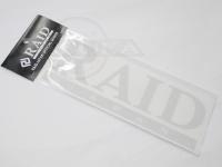 レイドジャパン カッティングステッカー - レイドジャパンロゴ #ヘアーラインシルバー サイズ 215mm
