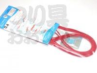 大洋ベンダーズ 繊維強化チューブ - - 赤 0.4mm