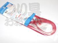 大洋ベンダーズ 繊維強化チューブ - - 赤 0.5mm