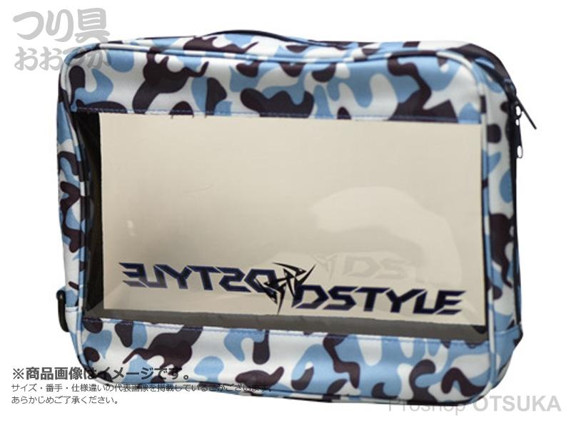 ディスタイル バッグ類 マルチクリアーポーチ サイズL #ブルーカモ