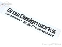 グローデザインワークス ステッカー - カッティング M #ブラック Mサイズ 約20cm