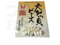 下田漁具 天然貝ビーズ - - #ナチュラル M
