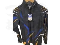 エクセル ドライジップアップシャツ - FP-5090 #ブラック/ブルー Lサイズ