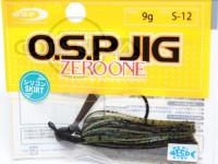 オーエスピー OSPジグ -  9g #S-12 グリーンパンプキンブルーフレーク シリコンスカート