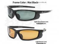 LSDデザイン LSDアイウェア - サーチ フレーム マットブラック レンズ ライトブラウン 透過率14% 偏光度99%