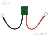 オリジナル コネクター - アンダーソン(正規品) バッテリー配線付き グリーン 8sq/M12