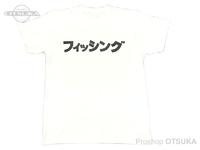 RCMF ラーメンカレーミュージックフィッシング Tシャツ - RCMF フィッシング カタカナ #ホワイト/ブラックロゴ Lサイズ