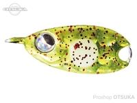 ルーディーズ 魚子メタル - ひらり 1.5g #チャートスポットグロー 1.5g フックサイズ#10・#12