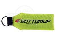 ボトムアップ フローティングキーホルダー -  #ライムグリーン 横13.5cm(リング部除く)縦4.5cm 厚さ2cm