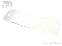 ルーデンスフィールド フエルコ - ロゴステッカー 白 50×160mm