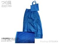 泡づけ本舗 メッシュ付ナイロンスカート -  ブルー フリーサイズ