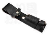 リトルジャック プロフェッショナル本皮ロッドホルダー -  #ブラック 57(W)mm×260(D)mm