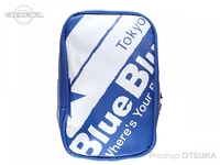 ブルーブルー ターポリンポーチ -  #01 ロゴタイプ/ブルー サイズW11.5×H18×D5.5cm