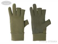 リトルプレゼンツ スパンデックス3Fレスグローブ - AC-103 #レトロオリーブ フリーサイズ