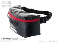 リトルプレゼンツ ビッグフィットウエストバッグ - OB-11 #ブラックアンドレッド ターポリン H20×W35×D31cm