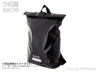 リトルプレゼンツ ターポリン防水バックパック - OB-12 #ブラック H51×W42×D15cm