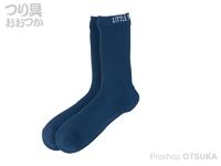 リトルプレゼンツ 透湿防水ニットソックス - AC-127 #ブルー L(26~28cm)