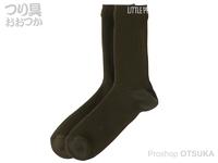 リトルプレゼンツ 透湿防水ニットソックス - AC-127 #オリーブ M(24~26cm)