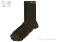 リトルプレゼンツ 透湿防水ニットソックス - AC-127 #オリーブ L(26~28cm)