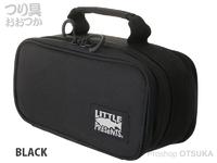 リトルプレゼンツ セミハードタックルケースS - AC-105 #ブラック H13×W26×D11cm