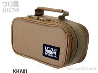 リトルプレゼンツ セミハードタックルケースS - AC-105 #カーキ H13×W26×D11cm