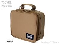 リトルプレゼンツ セミハードタックルケースM - AC-106 #カーキ H22×W26×D11cm