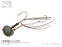 マルキュー エコギア オーバルテンヤ - オーバルテンヤ4号 T06 オリーブグリーン 4号(14g) フックサイズM