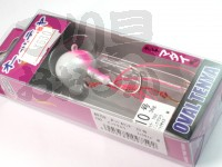 マルキュー エコギア オーバルテンヤ - オーバルテンヤ10号 T02 ピンクグロウ 36g フックサイズM