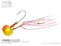 マルキュー エコギア オーバルテンヤ - オーバルテンヤ10号 T04 ゴールドレッド 36g フックサイズM