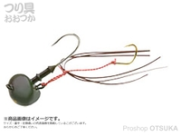 マルキュー エコギア オーバルテンヤ - オーバルテンヤ10号 T06 オリーブグリーン 10号(36g) フックサイズM
