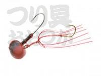 マルキュー エコギア オーバルテンヤ - オーバルテンヤ10号 T08 レッドブラック 10号(36g) フックサイズM