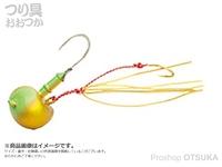 マルキュー エコギア オーバルテンヤ - オーバルテンヤ2.2号 #T12 ゴールドグリーングロウ 2.2号(7.7g) フックサイズM