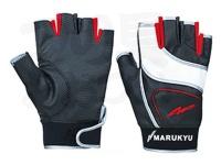 マルキュー フィッシンググローブMQ-01 - L #ホワイト&ブラック 手囲いサイズ25-26