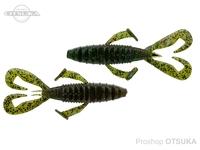 ノリーズ フロントフラッパーカーリー - 4インチ  #133 グリパンBKfl/WMレッド+グリーン 4インチ