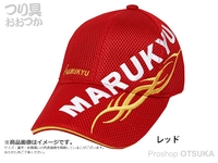 マルキュー トライバルメッシュキャップ02 - レッドL  Lサイズ