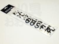 ゴーセン オーバーグリップ - B-814 #カモ白×黒 -