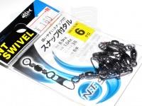 NTスイベル スナップ付タル型サルカン - 小袋 黒 6号