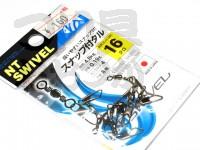 NTスイベル スナップ付タル型サルカン - 小袋 黒 16号
