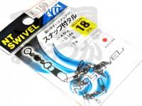 NTスイベル スナップ付タル型サルカン - 小袋 黒 18号