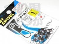 NTスイベル インタースナップ - 小袋 クロ 1号 強度5.9kg