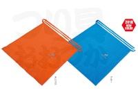 シミズ 防水巻きスカート -  #オレンジ サイズフリー